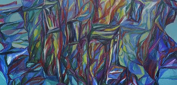 """Открытие графической серии Наташи Ван Будман «4 минуты под водой"""" в музей-квартире И. И. Бродского"""